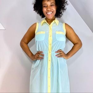 Antropologie Willow & Clay High Low spring dress
